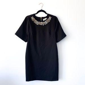 Eliza J Nordstrom Black Embellished Midi Dress